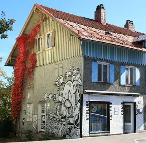 Crashkunst Atelier und Galerie in Kemtpten